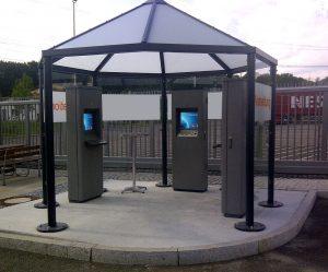 کیوسک اطلاع رسانی فضای آزاد outdoor