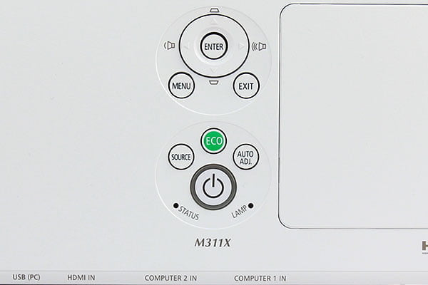 NEC-M311X-top-controls