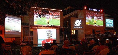 footbal-video-projector