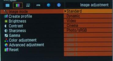 منوی پروژکتور کانن WX6000
