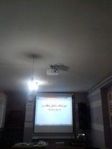 آموزشگاه رانندگی حافظ ران نصب دیتا و پرده نمایش