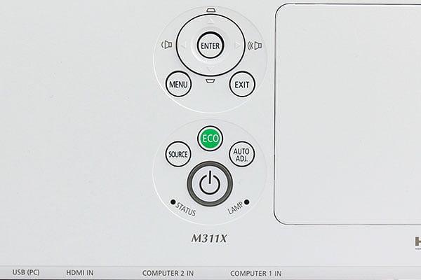 NEC-M311X-top-controls