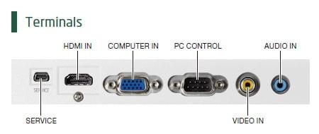 ورودی پروژکتور nec v303x