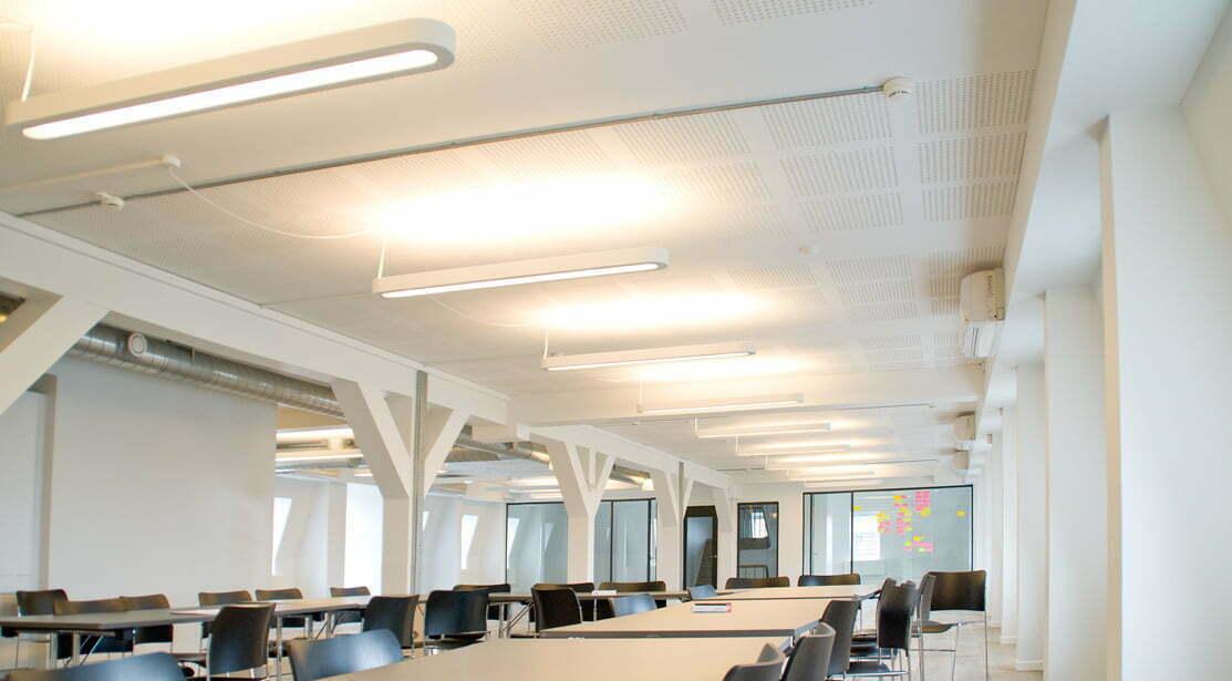 سیستم کنترل نور در سالن